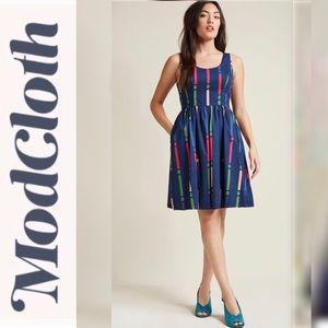 ModCloth Optimistic Effect Dress in Stripes